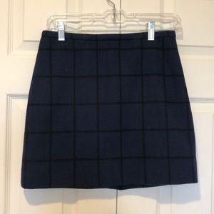 Madewell Navy Wool Mini Skirt Size 0